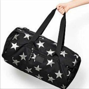 Victoria's Secret Pink Black Stars Duffle Bag